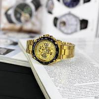 Мужские наручные часы Winner 8186 Big Diamonds Gold, фото 7