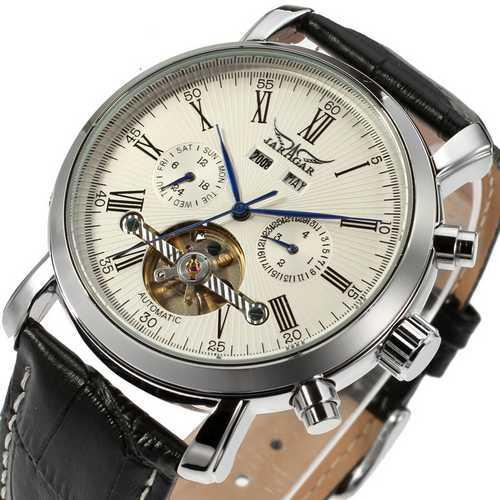 Мужские наручные часы Jaragar 540 Black-Silver-White