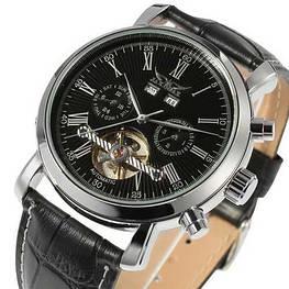 Мужские наручные часы Jaragar 540 Black-Silver-Black