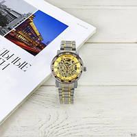 Мужские наручные часы Winner 8012 Diamonds Automatic Silver-Gold, фото 7