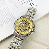 Мужские наручные часы Winner 8012 Diamonds Automatic Silver-Gold, фото 10
