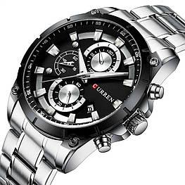 Мужские наручные часы Curren 8360 Silver-Black