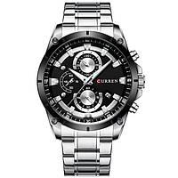 Мужские наручные часы Curren 8360 Silver-Black, фото 2