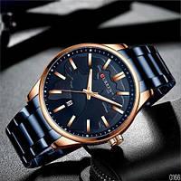 Мужские наручные часы Curren 8366 Blue-Gold, фото 5