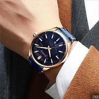 Мужские наручные часы Curren 8366 Blue-Gold, фото 6