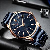 Мужские наручные часы Curren 8366 Blue-Gold, фото 7