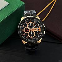 Мужские наручные часы Curren 8337 Black-Cuprum, фото 4