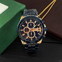 Мужские наручные часы Curren 8337 Blue-Cuprum, фото 4