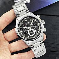 Мужские наручные часы Curren 8355 Silver-Black, фото 2