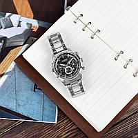 Мужские наручные часы Curren 8355 Silver-Black, фото 5