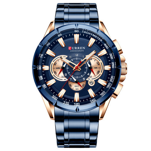 Мужские наручные часы Curren 8363 Blue-Cuprum