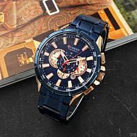 Мужские наручные часы Curren 8363 Blue-Cuprum, фото 2