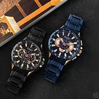 Мужские наручные часы Curren 8363 Blue-Cuprum, фото 5