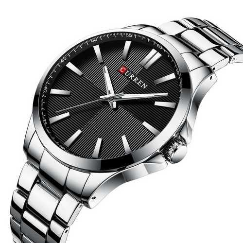 Мужские наручные часы Curren 8322 Silver-Black