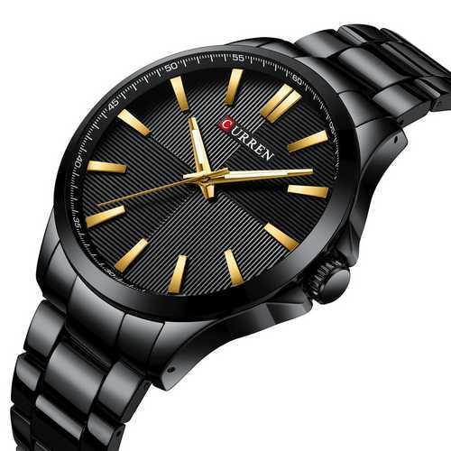 Мужские наручные часы Curren 8322 Black-Gold
