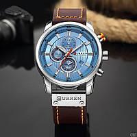 Мужские наручные часы Curren 8291 Silver-Blue, фото 2