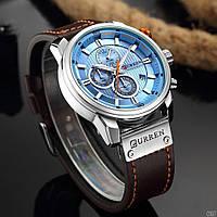 Мужские наручные часы Curren 8291 Silver-Blue, фото 3