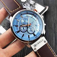 Мужские наручные часы Curren 8291 Silver-Blue, фото 4