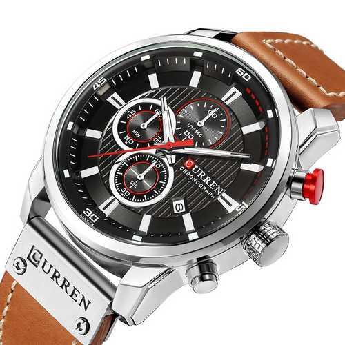 Мужские наручные часы Curren 8291 Silver-Black