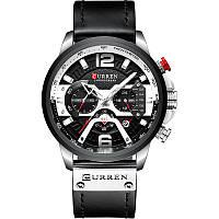 Мужские наручные часы Curren 8329 Black-Silver, фото 2