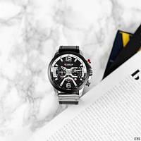 Мужские наручные часы Curren 8329 Black-Silver, фото 3