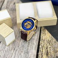 Мужские наручные часы Winner 339 Gold-Blue-Brown, фото 3