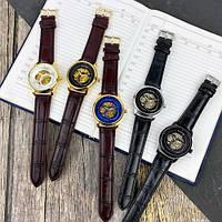 Мужские наручные часы Winner 339 Gold-Blue-Brown, фото 4
