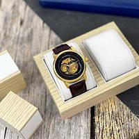 Мужские наручные часы Winner 339 Gold-Black-Brown, фото 3