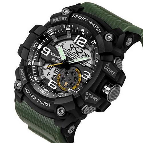 Мужские наручные часы Sanda 759 Green-Black