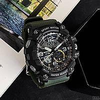 Мужские наручные часы Sanda 759 Green-Black, фото 2