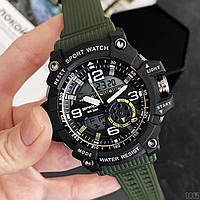 Мужские наручные часы Sanda 759 Green-Black, фото 4
