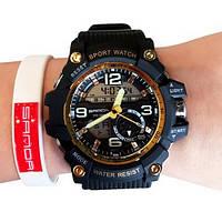 Мужские наручные часы Sanda 759 Black-Gold, фото 2