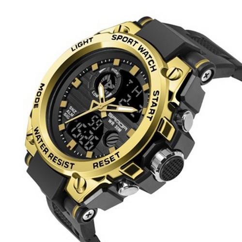 Мужские наручные часы Sanda 739 Black-Gold