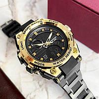 Мужские наручные часы Sanda 739 Black-Gold, фото 4