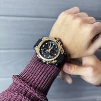 Мужские наручные часы Sanda 739 Black-Gold, фото 6