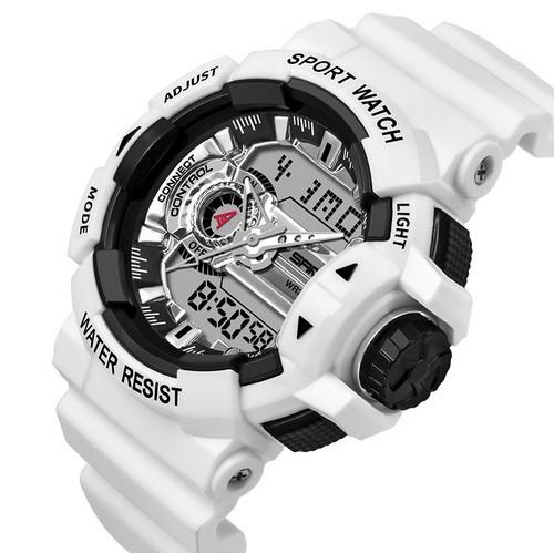 Мужские наручные часы Sanda 599 White-Silver