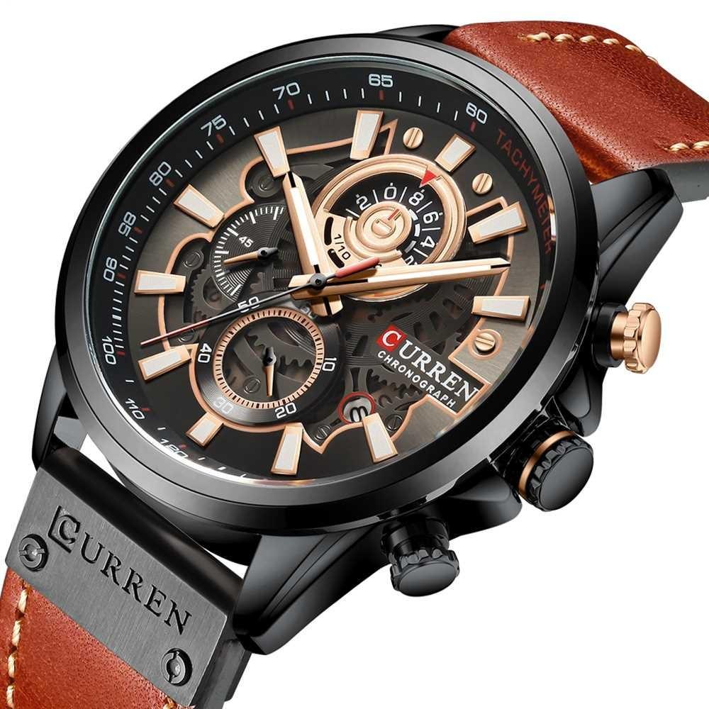Мужские наручные часы Curren 8380 Black-Brown