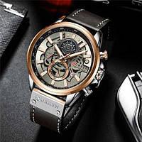 Мужские наручные часы Curren 8380 Cuprum-Silver-Brown, фото 2