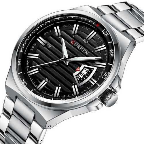 Мужские наручные часы Curren 8375 Silver-Black