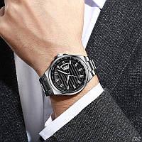 Мужские наручные часы Curren 8375 Silver-Black, фото 3