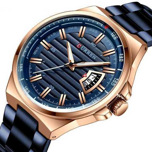 Мужские наручные часы Curren 8375 Blue-Cuprum