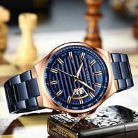 Мужские наручные часы Curren 8375 Blue-Cuprum, фото 2
