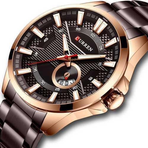 Мужские наручные часы Curren 8372 Brown-Cuprum