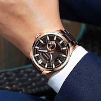 Мужские наручные часы Curren 8372 Brown-Cuprum, фото 2