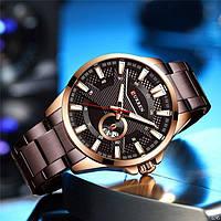 Мужские наручные часы Curren 8372 Brown-Cuprum, фото 3