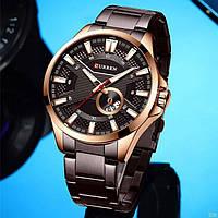 Мужские наручные часы Curren 8372 Brown-Cuprum, фото 4