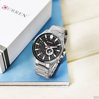 Мужские наручные часы Curren 8372 Silver-Black, фото 3