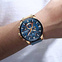 Мужские наручные часы Curren 8346 Blue-Cuprum, фото 2