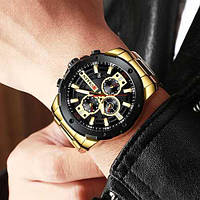 Мужские наручные часы Curren 8336 Gold-Black, фото 2