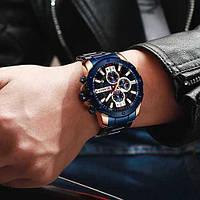 Мужские наручные часы Curren 8336 Blue-Cuprum, фото 2